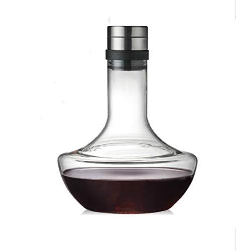 Xbai Decantador de Vino, Decantador Grande de 1000 ml, Plomo soplado a Mano, Copa de Cristal Libre, Jarra de Vino Tinto, Regalo de Vino, Accesorios para Vino