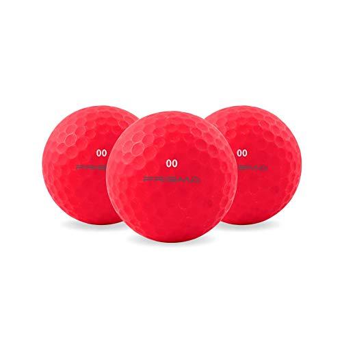 Prisma Fluoro matt Ti Golfbälle x 1 Dutzend (Feuerrot)