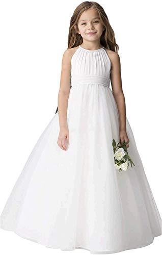 Chiffon Tulle Flower Girl Dress Junior Wedding Bridesmaid Dresses of...