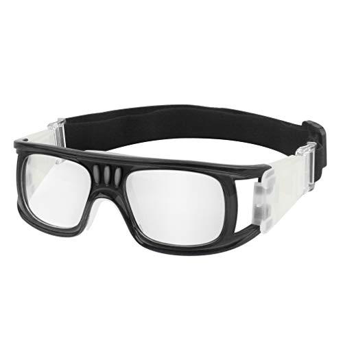Tongshop GGBuy Outdoor-Sport-Basketball-Brille mit verstellbarem Gummiband, Sicherheitsbrille für Erwachsene, Jugendliche, Basketball, Golf, Rugby, Fußball (Kids_rot), Kinder, Adult_Black, Kids_Red
