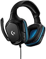 Logitech G432 Gaming Headset, 7.1 surround sound, DTS Headphone:X 2.0, 50mm audio drivers, USB en 3.5mm audio jack, flip-to-mute microfoon, PC/Mac/Xbox One/PS4/Nintendo SWitch - Zwart