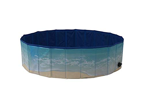 Midlee Dog Pool - Foldable & Portable Outdoor Bathing Tub (63' Diameter)