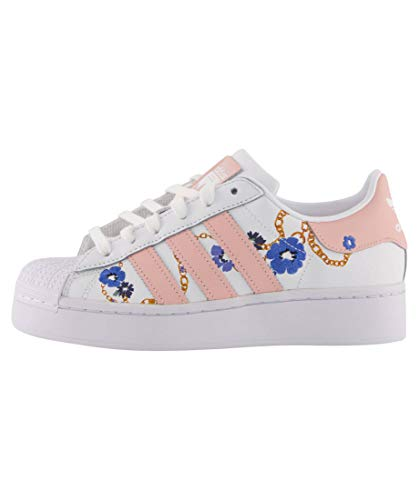 adidas Zapatos de mujer Superstar Bold Shoes Cloud White/Vapour Pink/Yellow FW2547 Size: 38 2/3 EU