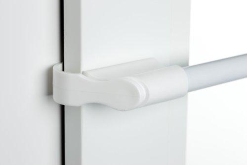 cg-sonnenschutz Klemmstange weiß Ø 10/12mm 75-125cm für Fenster für Scheibengardinen, Spannvitrage, Vitragestange für Fenster