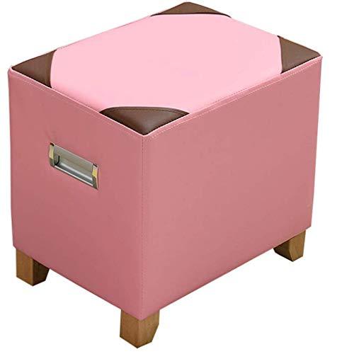 ZXSFD Sofa Hocker - Leicht zu reinigen, innovatives Design, einfacher Entwurf, Vier Beine, Massivholz-Sofa Bank