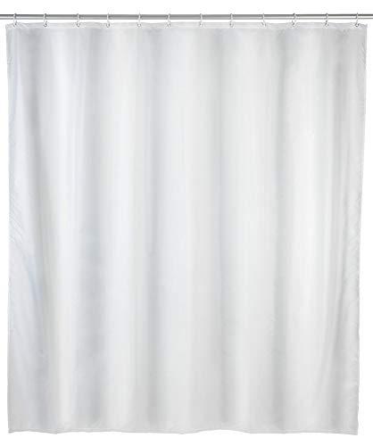 WENKO Duschvorhang Uni Weiß