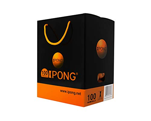 Find Bargain iPong Training Table Tennis Balls 100 Pack - 40mm 40+ Regulation Bulk Ping Pong Balls f...