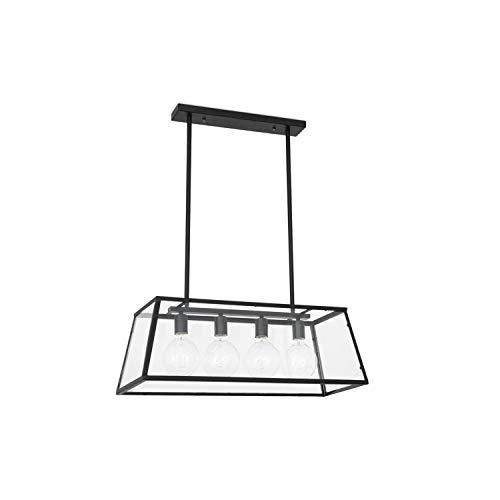 FARO BARCELONA 65081 Rose Lampe Suspension télescopique Noire
