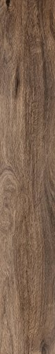 Rektifizierte Holzoptik Bodenfliese Canadia dunkelbraun matt im Großformat 20x120cm aus Feinsteinzeug (Muster ab 10x10cm)