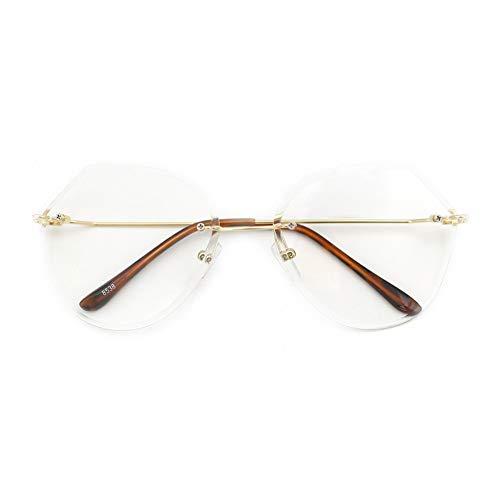 GB KK eyes Espejo transparente sin marco, protección contra la radiación, gafas Blu-ray, chicas retro sin grado