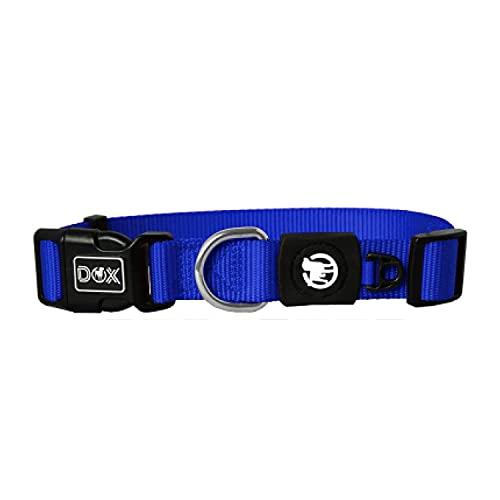 DDOXX Hundehalsband Nylon, verstellbar | viele Farben & Größen | für kleine & große Hunde | Halsband Hund Katze Welpe | Hunde-Halsbänder | Katzen-Halsband Welpen-Halsband klein | Blau, XS