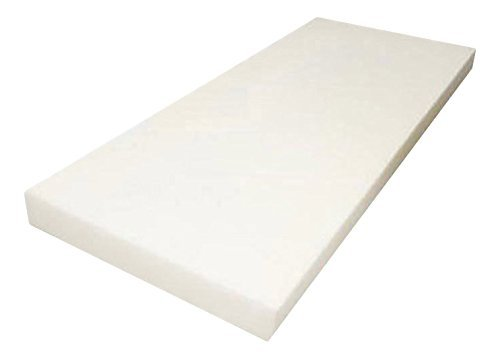 "Mybecca Upholstery Foam Cushion High Density (Seat Replacement, Upholstery Sheet, Foam Padding), 3"" H x 24"" W x 72"" L"