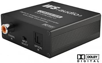 WyreStorm EXP-CON-DAC-D Digital to Analog Audio Converter with Dolby Downmix44; Black