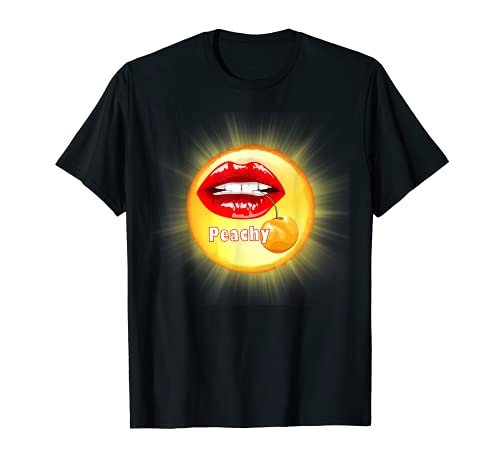 Peachy Kiss, TEES TOTES y almohadas, teaseteetops Camiseta