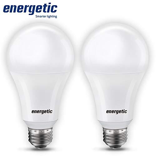 150 Watt LED Light Bulb, Super Bright A21/A19 Daylight 5000K, Non-Dimmable, 2300lm, High Lumen Light Bulbs, UL Listed, 2-Pack