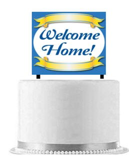 Welcome Home Cake Decoration Banner