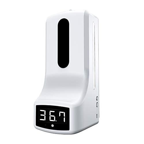 N/A. Termómetro con dispensador de jabón de mano montado en la pared, K9 medición digital de temperatura sin contacto con alarma para oficina, hogar, supermercado metro