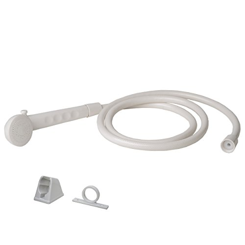 Builders Shoppe 4120WT RV/Motorhome Replacement Non-Metallic Hand Held Shower Set White Finish