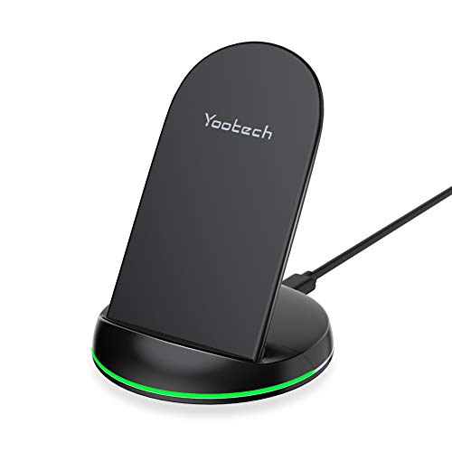YOOTECH Wireless Charger,10W Max. Fast Qi Wireless Ladestation kabelloses Ladegerät für iPhone 11/11 Pro/11 Pro Max/XS MAX/XR/XS/X/8/8 Plus, Samsugn Galaxy S20/S10+/S10/Note 10/S9/S8/Note 9 usw.