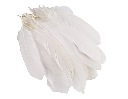 100Pcs 6-9inches White Home Wedding Party Decor Goose Feather DIY Crafts