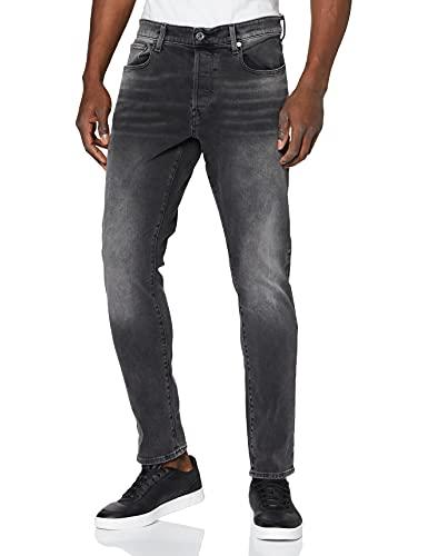 G-STAR RAW Herren Jeans 3301 Slim Fit, Antic Charcoal B479-A800, 33W / 32L