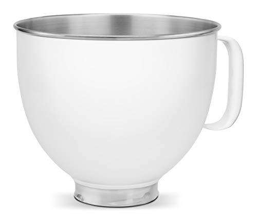 KitchenAid Metallic Bowls white 5KSM5SSBWH Schale aus Metall, 4.7 liters, weiß