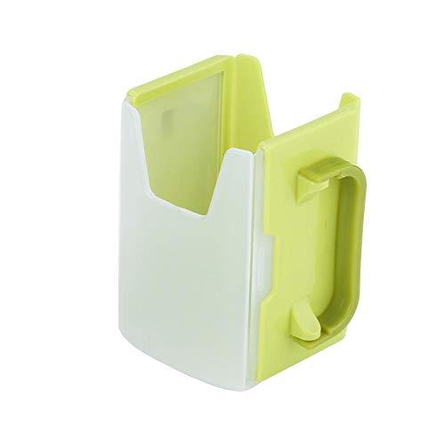 Juice Box Milk Drinking Box Holder Einstellbar Auslaufsicherer Milchgetränkehalter mit Griff für Kid Child Kitchen Tool(Grün)