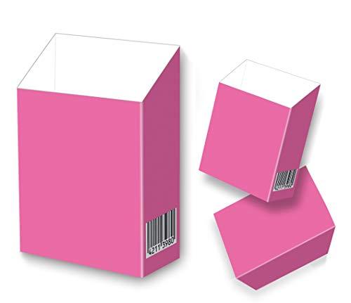 indo slipp - Zigarettenschachtel Überzieher/Hülle ohne Deckel aus Karton/für L-Schachteln (092 Pink Box, 3 Stück)