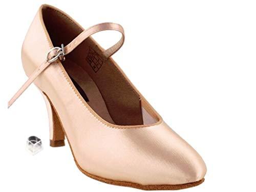 Very Fine Dance Shoes Competitve Dancer Series CD5024M 2.5-inch Heel - Flesh Satin - 7