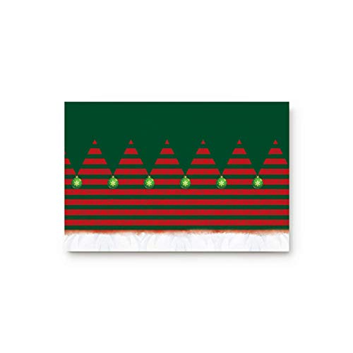 EU Rot und Grün Willkommen Fußmatte gestreifte Weihnachten Home Decor Fußmatten Indoor Küchenteppiche rutschfeste Badezimmerteppiche Wasserabsorbierender Badteppich