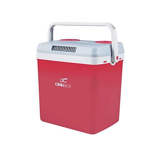 LTC LTCA32 CoolBox Koelbox 32L met verwarmingsfunctie Mini Koelkast Draagbare Koelbox KFZ Autokoelkast Rood DC12V AC220-240V