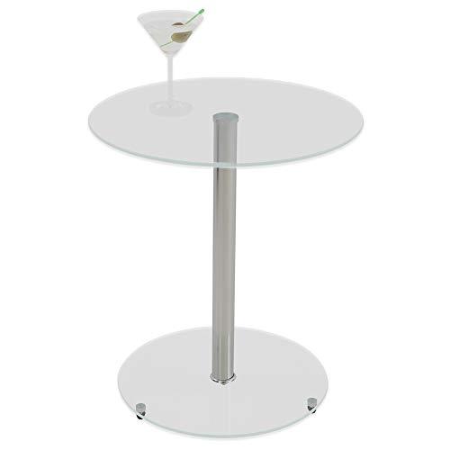 Albatros Glastisch Sunset, Klarglas, Beistelltisch rund, Höhe 50cm, Cocktailtisch/Couchtisch