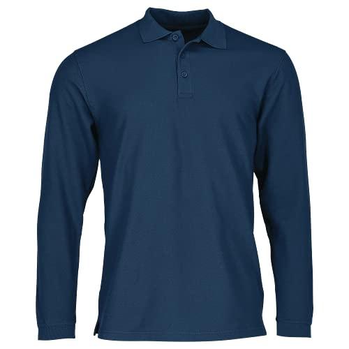 Fruit of the Loom SS037M, T-Shirt Polo Uomo, Blu (Navy Blu), Large