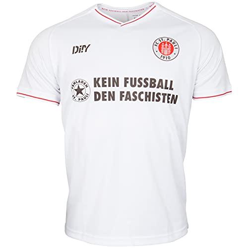 FC St. Pauli Trikot Teamshirt T-Shirt Auswärts 2021-22 Kein Fußball den + Sticker (M, m)