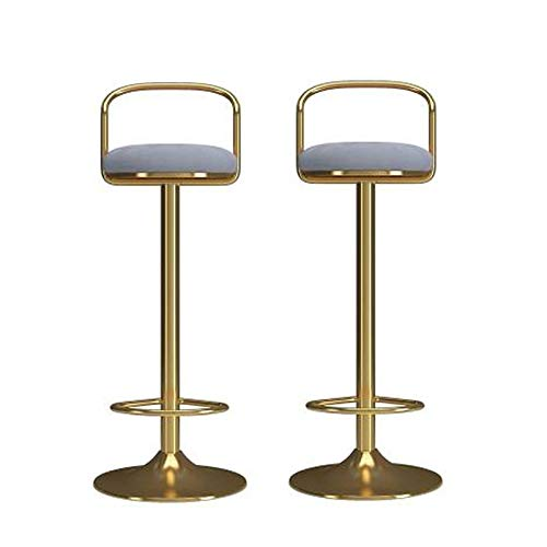 BY-lYJ Taburetes de Bar Set de taburetes de Bar de 2/4, Silla de Barra de Terciopelo con Respaldo y reposapiés, Moderno Pub de Cocina en Altura de Tablas de Vestir Taburetes de Barra de Desayuno