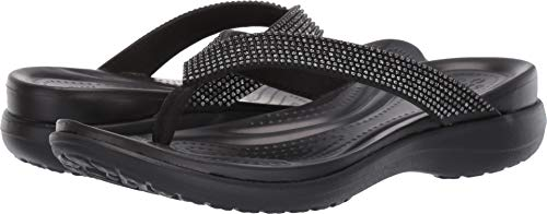 CROCS Schuhe reduziert - CAPRI DIAMANTE FLIP - black, Größe:36/37 EU
