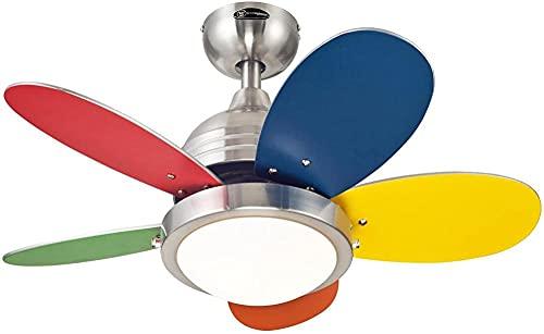 Serrale Luces De Ventilador De Techo, Ventilador De Techo Interior Rotonda De Iluminación Con LuzNíquel Cepillado De30 Pulgadas