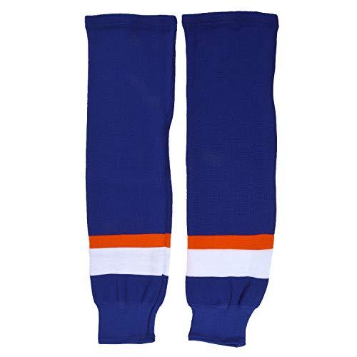 Sherwood - Calzettoni da Hockey su Ghiaccio per Bambini, New York, Colore: Marine/Bianco/Arancione, Junior