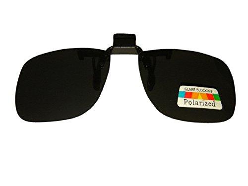 Clip op en Flip Up zonnebril gepolariseerde vakantie skiën rijden blauwe blok 100% UV400 bescherming