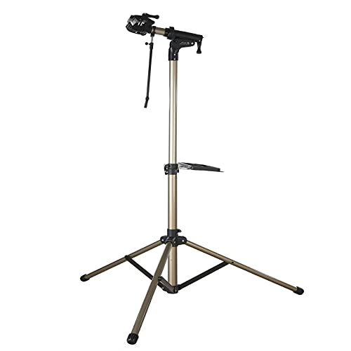 SLIVERY&CHAVALIER Bike Repair Stand Home Bicycle Mechanic Maintenance Workstand Foldable Height Adjustable Aluminum Alloy Bike Workstand with Quick Release for Road & Mountain Bikes