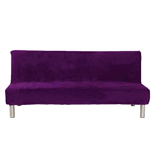 LYY Funda de sofá sin Brazos, Funda de sofá Cama de Felpa elástica, Protector de Muebles, Funda de futón sin apoyabrazos