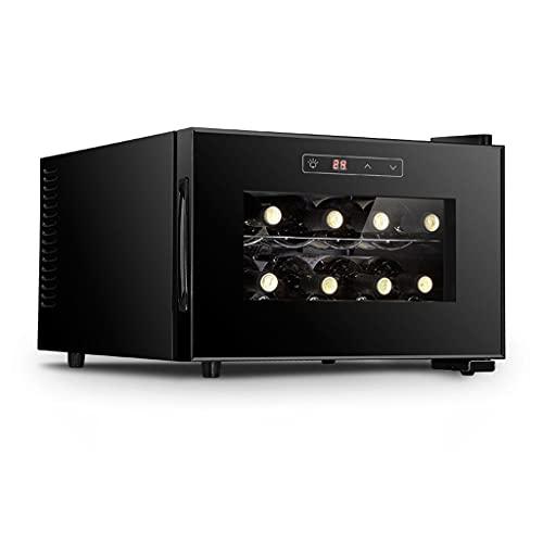 SHENXINCI Vinotecas 8 Botellas Bodega / 70W Gabinete de Vino a Temperatura Constante,con Estantes E Iluminación LED,11~18 °...