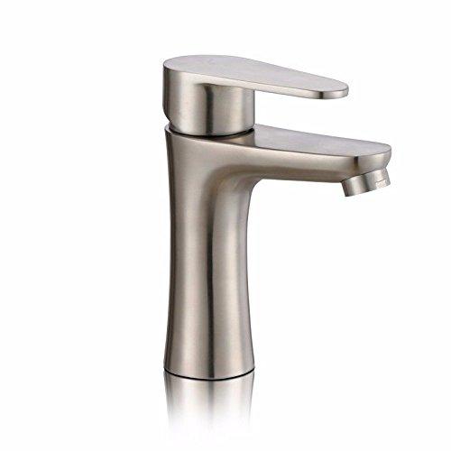 Gyps Faucet Waschtisch-Einhebelmischer Waschtischarmatur BadarmaturEdelstahl gebürstet Edelstahl Waschbecken, warmes und kaltes Wasser, Badezimmer Armatur Einloch Spülbecken,Mischbatterie Waschbecken