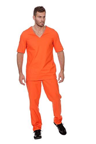 Wilbers&Wilbers W5009-48 - Disfraz de Jail del Prisoner, color naranja, talla 48