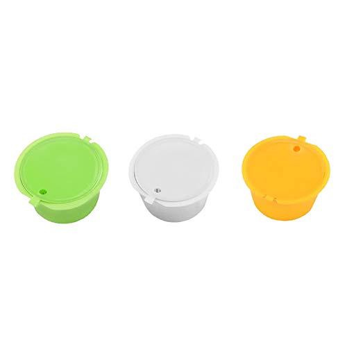 muskmelon 3Pcs Cápsulas de Café Recargables Cápsulas de Café Vainas Filtro de Café Reutilizable Colador De Té para Dolce Gusto