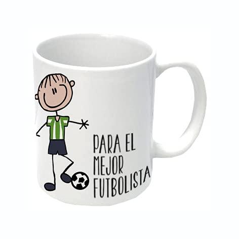 L'Informal Taza Mejor Jugador de Futbol Verde y Blanco