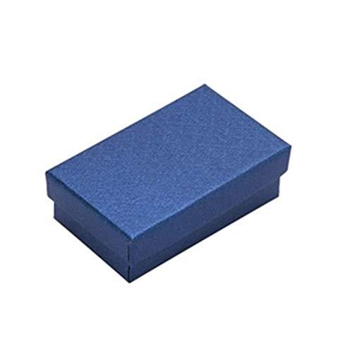 32pcs joyería caja 8x5CM anillo collar de caja for la joyería de múltiples colores joyería Cajas de empaquetado del regalo de exhibición del pendiente Negro Esponja gift (Color : Blue)