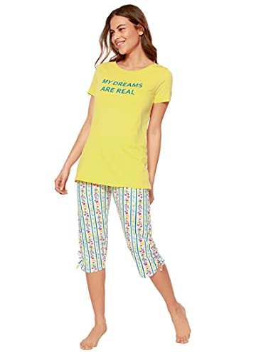 Pijama Camiseta con Estampado Frontal Mujer - 037084