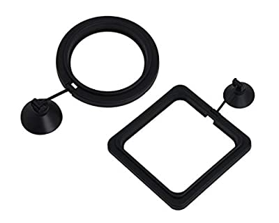 SCSpecial Fish Feeding Ring 2 Pieces Aquarium and Tank Floating Rings Food Feeders with Suction Cup