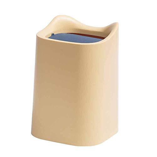 Wdonddonljt Bote de Basura de Escritorio for Oficina de Escritorio Mesa de Centro pequeña Cocina Cubo de la Basura de la Basura de Colores Puede sacudir Cubierta de la cubeta pequeña Cesta de Papel